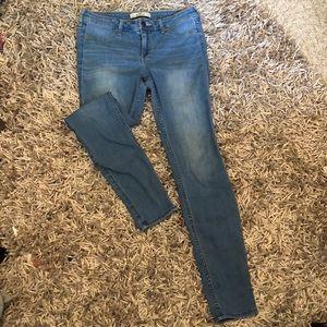 Light colored Hollister skinny jeans